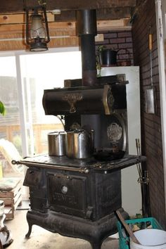 Vintage Coal and Wood Stoves! Jewel Wood Burner Found on flickr.com