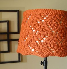 Knitting Crazy Lace Lampshade Covers