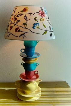 My First Fiesta  Fiestaware Tea Set Lamp by LadyJLamps on Etsy, $175.00