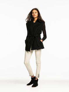 Sleeveless Wool Vest