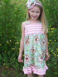 Girls Knot Dress with matching Headband by BrooklynsBoutique2, $51.00 Custom Made Clothing, Knot Dress, Lily Pulitzer, Summer Dresses, Girls, Clothes, Fashion, Toddler Girls, Outfit