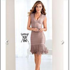 Venus Hold U In Fringe dress Never worn body hugging fringe dress from Venus. Size 6. Venus Dresses Mini