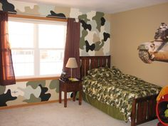 Army Camo Boys Room | Camo Room , My son really wanted an army room and so I ordered a buch ...