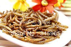 Free shipping  Dried mealworm dry hamster arowana fish food turtle food lizards feed pets food ,100g