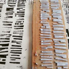 Day 8 - Print Plate No. 8 Cardboard, foam, acrylic, newsprint, cartridge paper