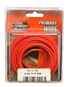 AUTOMOTIVE WIRE 18 AWG HIGH TEMP GXL STRANDED WIRE ORANGE 50 FT MADE IN USA