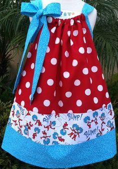 Thing 1 Thing 2 Pillowcase Dress by BabyThreadsByLiz on Etsy, $28.00