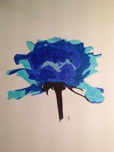 Blue rose, promarkers #tellendesign #art
