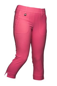 """Magic Capri Candy These slip-on Daily Sports capri's are designed with super-stretch fabric that molds to your shape like a second skin.  The """"magic"""" bottoms are made for active golf as well as leisure. They are soft, comfortable and offer full freedom of movement.  #golfclothes #SouthFlorida #Broward"""
