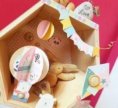 Boîte à explosion Noël - Le scrapauroreblog Mini Albums, Scrapbooking, Idee Diy, Teddy Bear, Toys, Animals, Boutique, Collection, Baby Mini Album