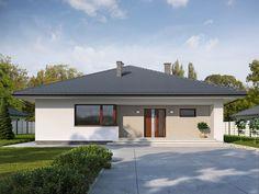 DOM.PL™ - Projekt domu TP Irysek 4 CE - DOM TP2-08 - gotowy koszt budowy Rio 2, Facade House, Design Case, Gazebo, Layout, Outdoor Structures, House Design, Outdoor Decor, Home Decor