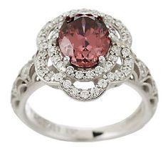Tacori IV Diamonique Epiphany 2.65 cttwSim.PinkTourmaline Ring - QVC.com