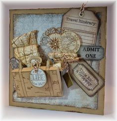 trendy vintage cards hand made tutorials heartfelt creations Card Making Inspiration, Making Ideas, Heartfelt Creations Cards, Card Creator, Shabby Chic Cards, Travel Cards, Paper Crafts Origami, Create And Craft, Scrapbook Cards