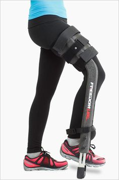 Freedom Leg | Freedom Leg Brace helps you recover from a broken lower leg, foot or ankle without having to use crutches.  Genius!