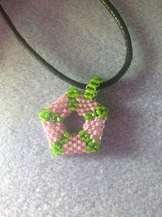 Pendant made with delicas