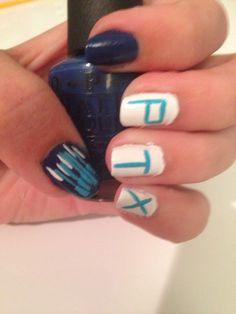 finally did ptx nails! I love the way the piano keys turned out and they'll be perfect for the concert! Band Nails, Piano Keys, Pentatonix, Cute Pattern, Nail Arts, Cool Bands, Nail Designs, Nail Polish, Beauty Stuff