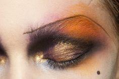 orange, black and gold eye...