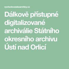 Dálkově přístupné digitalizované archiválie Státního okresního archivu Ústí nad Orlicí Math Equations