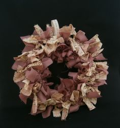 Dusky Pink Rag Wreath by AnitaRoseDesigns on Etsy