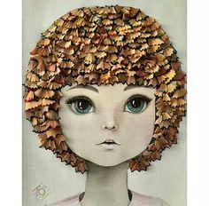 Drawing with pencil shavings