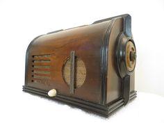 Vintage 1930s Old Art Deco 034 Tempo Tone 034 Amazing Antique Streamlined Tube Radio   eBay