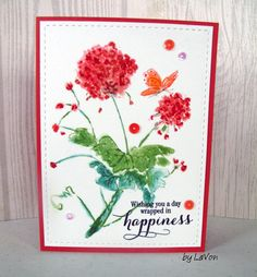 """https://flic.kr/p/EVAPG7   2nd Generation Light Touch   This card was my second card generated from the same inking of the stamp.  I like this one better than the first.  Used the matching Distress Ink Pens to add just a touch of detail to the more muted result. Used Penny Black stamps: Cling 40-449 """"Light Touch"""" Clear 30-297 """" Sprinkles & Sparkles"""""""