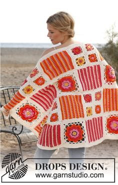 Orange Blossom blanket.  Crochet, free pattern - I need to do more blankets like this