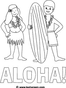 Hawaii Coloring Page