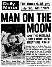 Man on the Moon.  I know where I was.  Concord, California and Monty was drunk in livingroom watching TV with a couple of Navy buddies.  LOL