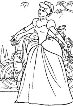 Cinderella Coloring Page Coloring Pages of Epicness Pinterest