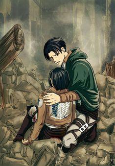 Levi x mikasa Anime Oc, Fanarts Anime, Anime Kawaii, Anime Characters, Attack On Titan Ships, Attack On Titan Fanart, Attack On Titan Levi, Akira, Levi Mikasa