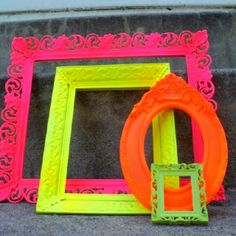 Picture frames Neon TWLOHA logo? Promoting sign?