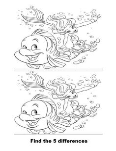 Spot the difference coloring pages Cartoon Coloring Pages, Colouring Pages, Printable Activities For Kids, Fun Activities, Find The Difference Pictures, Snowflakes For Kids, Find The Differences Games, Toddler Drawing, Hidden Picture Puzzles