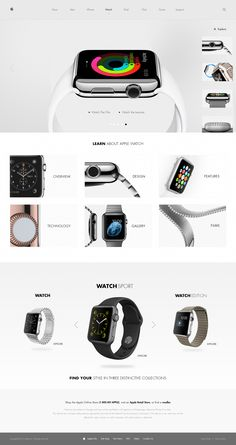Apple Watch Facelift | #webdesign