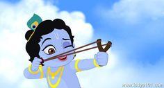 Baby Krishna Playing