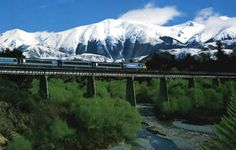 New Zealand (Trans Alpine railway) - one of the most beautiful train rides in the world! Must-do list