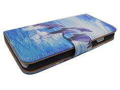 """Blue Dolphins Iphone 6s Case Wallet Case Premium Soft Pu Leather Wallet Cover - Verizon, At&t, Sprint, T-mobile - For Apple Iphone 6 and Iphone 6s 4.7"""" Devices. Protect your phone with style through this Attractive Protector Case and make it tamper resistance. Delivers ultimate protection from scratches and molds perfectly to device's shape to highlight its beauty. Reinforced with pu leather to the sides to ensure the durability of the case and to prolong the life of cellualar device...."""