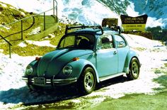'73 Beetle at Loveland Pass, Colorado My second or third time Snow Skiing was here. Would like to go back and to sweeten the deal it'd be nice to have my VW back!