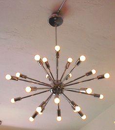 chrome sputnik chandelier