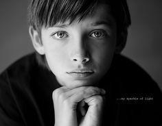 Fantastic melancholy portrait of a boy.