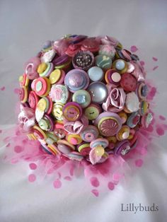 The Candy Shoppe Button Bouquet, www.lillybuds.com