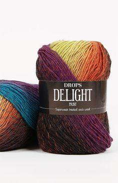 DROPS Delight - Eine weiche und spannende superwash behandelte Wolle! Drops Delight, Wool, Crochet, Handmade, Yarns, Stuff Stuff, Strands, Tejidos, Tricot