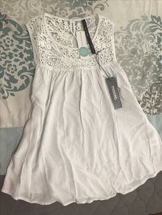 Really love this white lace Renee C tank