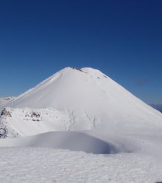 The view of Mt Ngauruhoe from the crossing