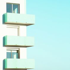 Geometric, minimalist photography of pastel coloured buildings by Matthieu Venot. - other photos - Mint Minimal Photography, Urban Photography, Color Photography, Photography Blogs, Iphone Photography, Pastel Mint, Pastel Colors, Mint Blue, Blue Cream