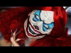 Until Dawn Clown Makeup Tutorial - YouTube