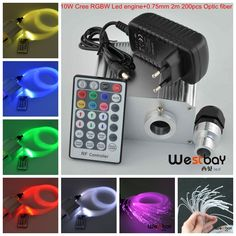 86.22$  Buy now - http://aligrs.worldwells.pw/go.php?t=32617636608 - Cree 10W twinkle RGBW led engine+28key remote+mix fiber 3MX(150pcs* 0.75mm+30pcs*1.0mm+20pcsX1.5mm),DIY fiber lighting home 86.22$