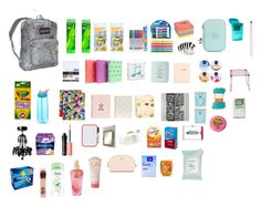 """""""School supplies haul"""" by kylie-shain on Polyvore featuring beauty, JanSport, Dixon Ticonderoga, Post-It, Kipling, Yoobi, Mead, Wild & Wolf, FOSSIL and Kate Spade"""