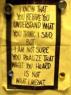 OH yeah - exactly! I wanna say this to some one SO badly - but at the same time - why hash something from years ago???? IF they wanted to understand better, they should ask! Amen!