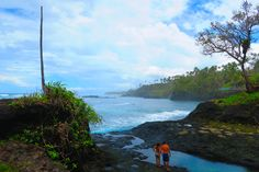 The tidal pools outside the Tu Sua Ocean Trench in Samoa are right on the rugged coastline Island Nations, Tropical Beaches, South Pacific, Pools, Trench, Travel Guide, Islands, Things To Do, Waterfall